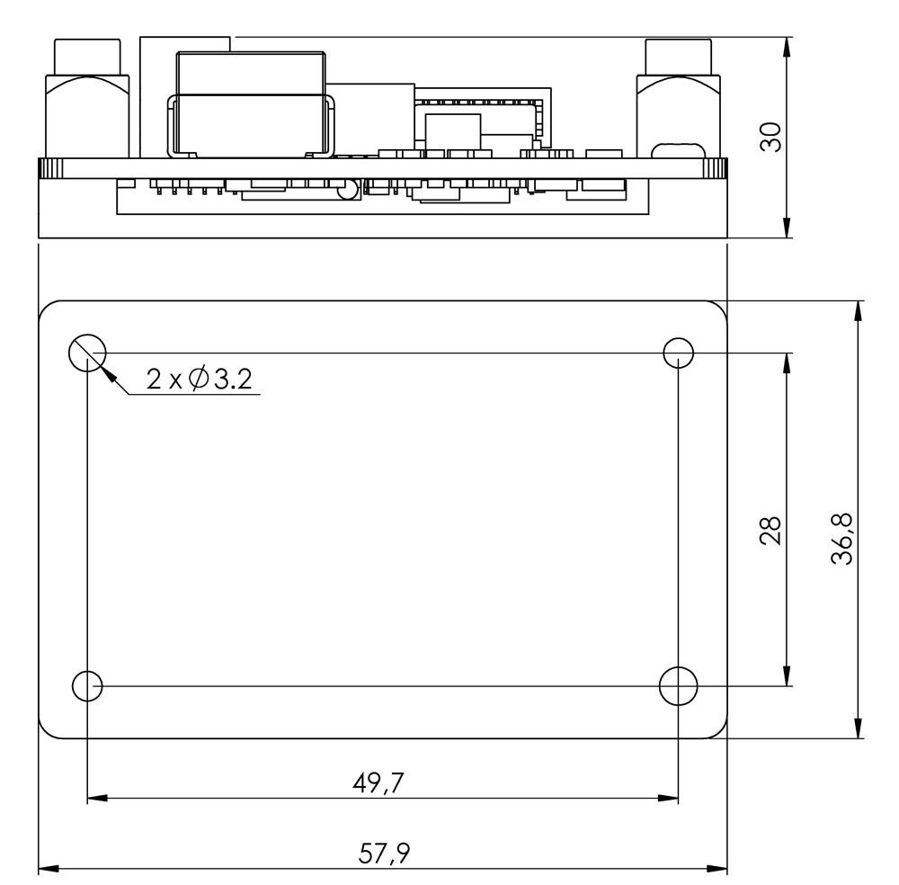 Laser Diode Driver Cw Diagram Dimensions Sf6015 Sf6030